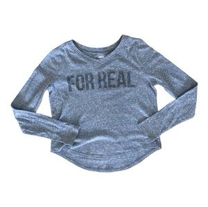 Old Navy Graphic Long Sleeve 'For Real' Tee
